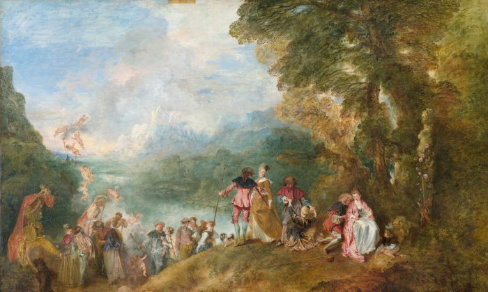 """The Embarkation for Cythera,""  1717 by Antoine Watteau (1684–1721). Oil on canvas 50.7 inches by 76.3 inches, Louvre Museum. (Public Domain)"
