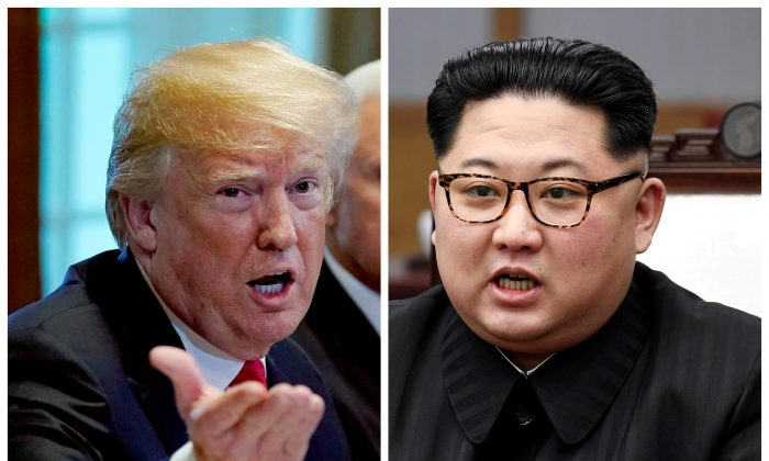 (Reuters/Kevin Lamarque and Korea Summit Press Pool/File Photos)