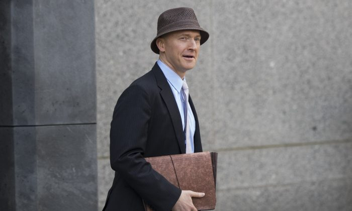 Carter Page in New York City on April 16, 2018. (Drew Angerer/Getty Images)