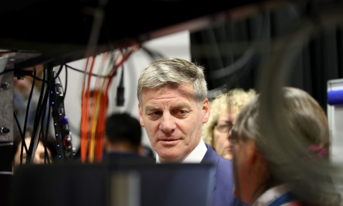 Former New Zealand Prime Minister Bill English on Sept. 13, 2017, in Auckland, New Zealand. English was accused of having connections to Chinese spies. (Phil Walter/Getty Images)