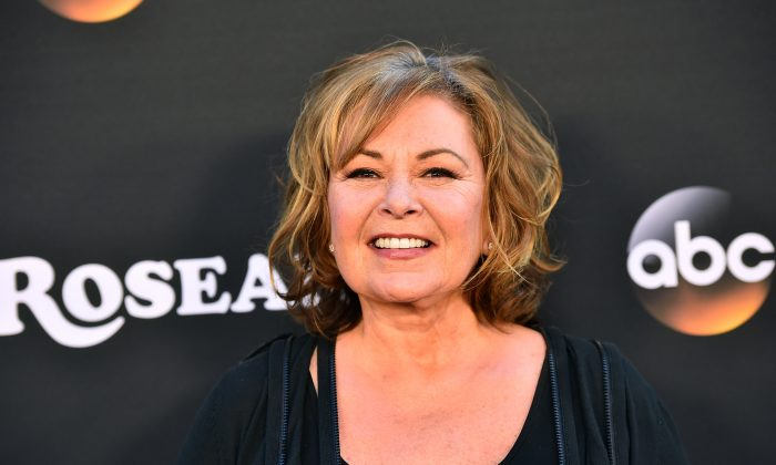 """Roseanne Barr attends the premiere of ABC's """"Roseanne"""" at Walt Disney Studio Lot in Burbank, Calif., on March 23, 2018. (Alberto E. Rodriguez/Getty Images)"""