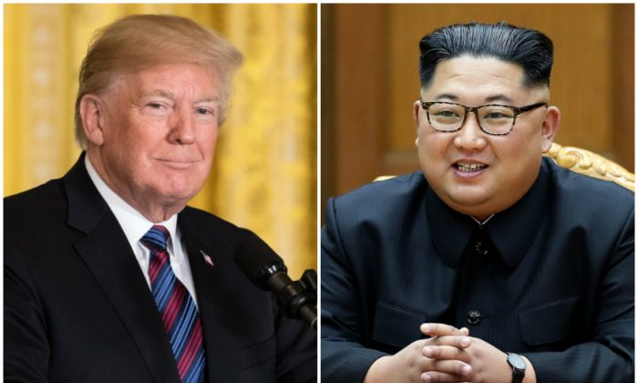 U.S. President Donald Trump and North Korean communist leader Kim Jong Un. (Samira Bouaou/The Epoch Times; South Korean Presidential Blue House via Getty Images)