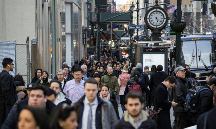 People in Manhattan, New York, on Feb. 27, 2017. (Samira Bouaou/Epoch Times)