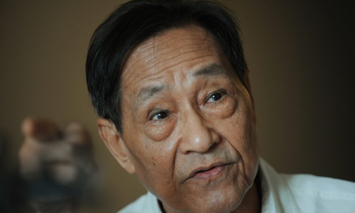 Chinese dissident Bao Tong is under house arrest in Beijing on August 12, 2008. (Mark Ralston/AFP/Getty Images)