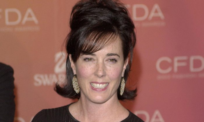 Kate Spade arrives at the Council of Fashion Designers of America awards in New York on June 2, 2003, at the New York Public Library.( REUTERS/Chip East/File Photo)