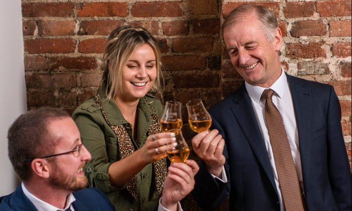 Giving a toast is a valuable social skill. Tim Herlihy (L), U.S. ambassador for Tullamore D.E.W. Irish whiskey, is no stranger to the art. (Courtesy of Tullamore D.E.W.)