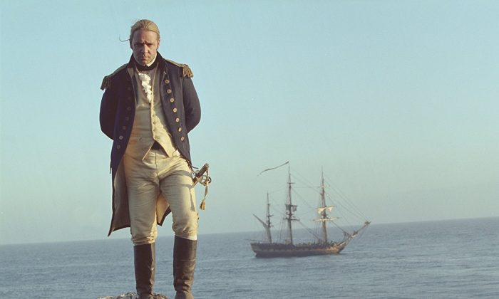 """Russell Crowe in a scene  from """"Master and Commander: The Far Side of the World"""" in the in which Bach's Prelude from Suite No. 1 is played. (Twentieth Century Fox Film Corporation and Universal Studios and Miramax Film Corp)"""