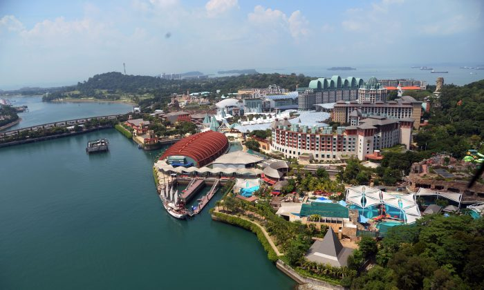Sentosa Island, the site of the summit between President Donald Trump and North Korean leader Kim Jong Un, in Singapore on June 6, 2018. (Roslan Rahman/AFP/Getty Images)