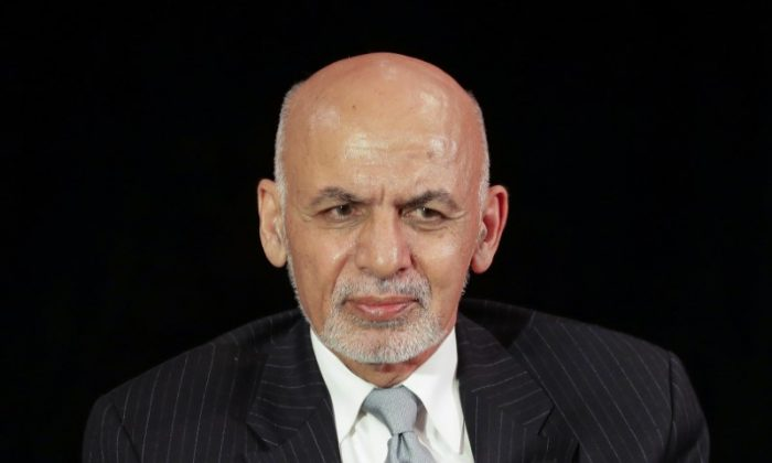 Afghanistan's President Ashraf Ghani attends a panel discussion at Asia Society in Manhattan, New York on Sept. 20, 2017. (REUTERS/Jeenah Moon)