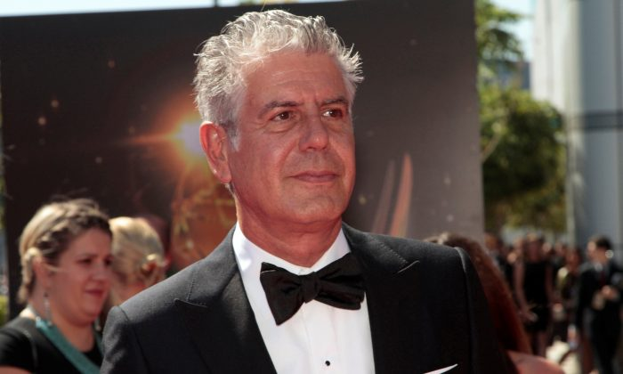 Chef and television personality Anthony Bourdain at the 65th Primetime Creative Arts Emmy Awards in Los Angeles, on Sept. 15, 2013. (Jonathan Alcorn/Reuters/File Photo)