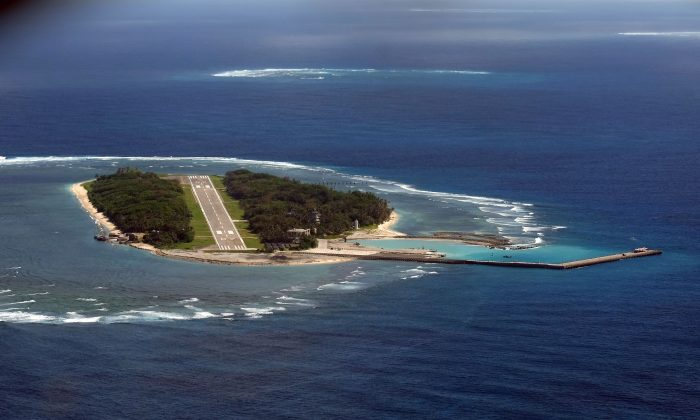 A view of Taiwan-controlled Taiping island in the South China Sea on November 29, 2016. (Sam Yeh/AFP/Getty Images)