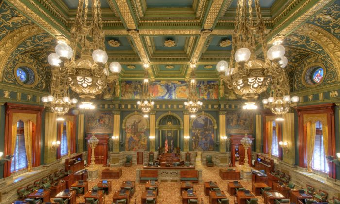 The Senate chamber in the Pennsylvania State Capitol in this file photo. (Courtesy of Bestbudbrian)