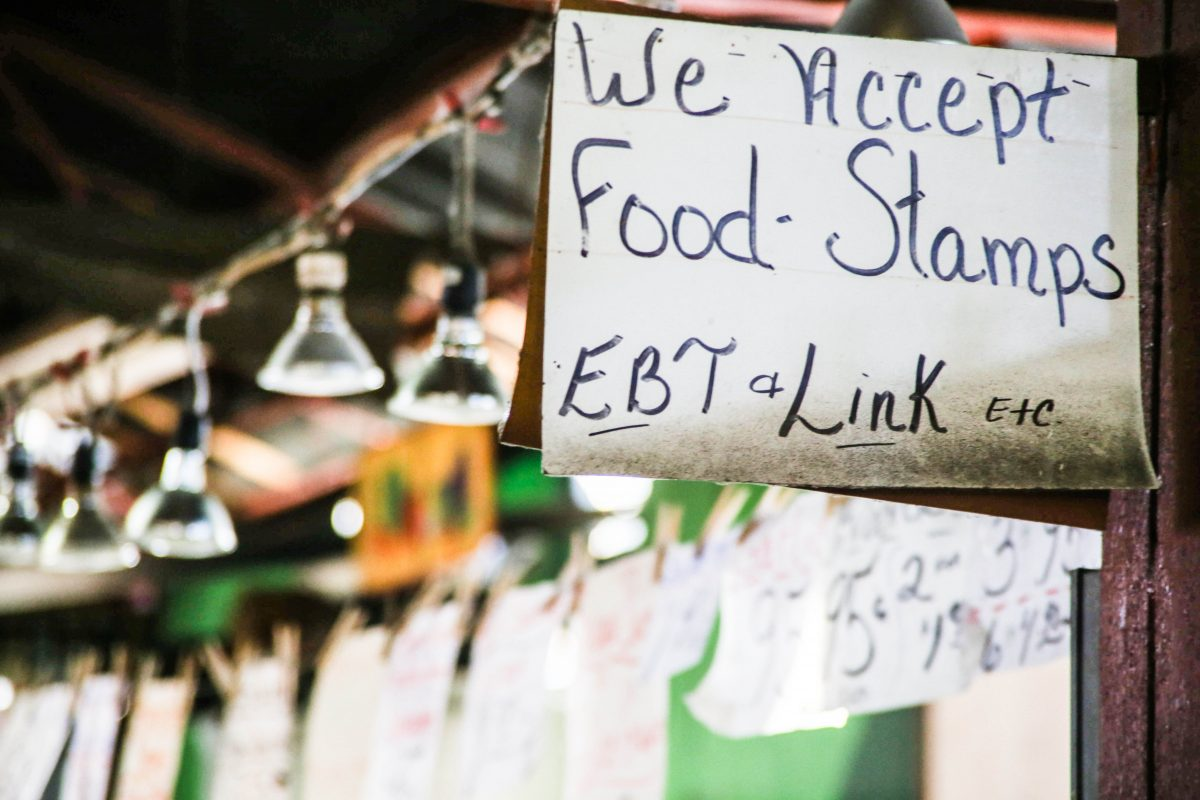 A store accepting food stamps