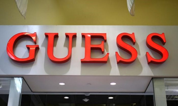 A view of a Guess logo outside its store in Golden, Colorado, Dec. 3, 2014. (Reuters/Rick Wilking)