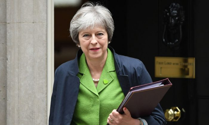 Prime Minister Theresa May leaves 10 Downing Street following a cabinet meeting on June 12, 2018 in London, England. (Chris J Ratcliffe/Getty Images)