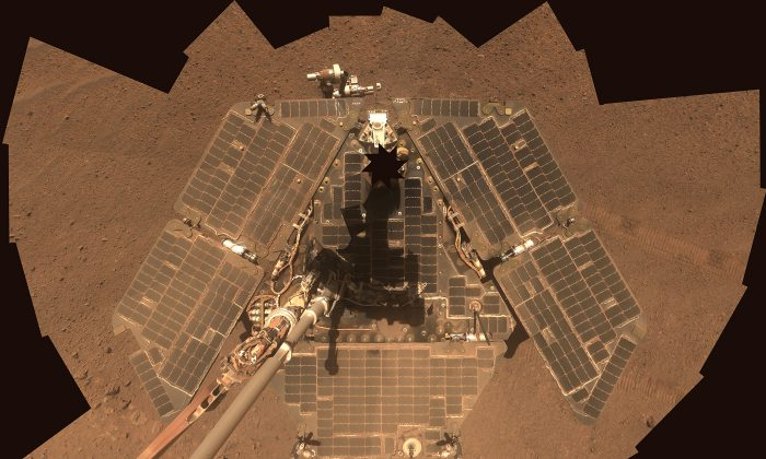 NASA's Mars Exploration Rover Opportunity is shown in this handout photo released to Reuters July 29, 2014. (Reuters/NASA/JPL-Caltech/Cornell Univ./Arizona State University/Handout)
