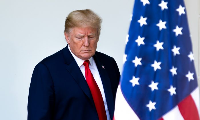 President Donald in the Rose Garden of the White House on June 7, 2018. (Charlotte Cuthbertson/The Epoch Times)