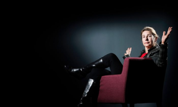 U.S. journalist and writer Lionel Shriver poses during a photo session in Paris on March 29, 2017. (Joel Sageta/AFP/Getty Images)