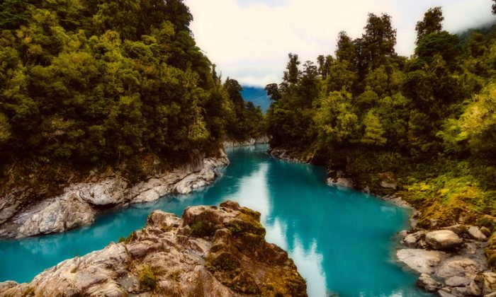 River and Stream landscape in New Zealand. (Public Domain)