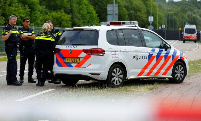 Police is seen near an incident scene where a van struck into people after a concert in Landgraaf, the Netherlands June 18, 2018. (Reuters/Thilo Schmuelgen)