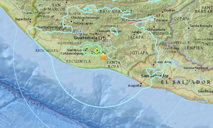 A 5.6 magnitude earthquake shook Guatemala on Sunday, June 17, according to the U.S. Geological Survey (USGS). (Screenshot via USGS)