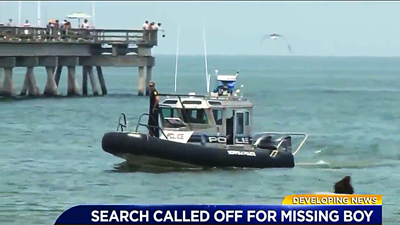 Several agencies have stopped searching for the body of a 12-year-old boy who disappeared off a Virginia beach. (WTKR screenshot)