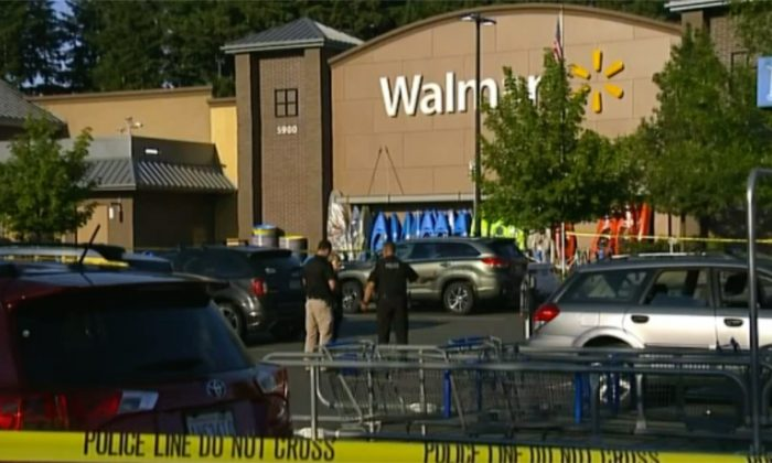 Shooting at Walmart in Washington State on June 17, 2018. (Screenshot via Fox News)