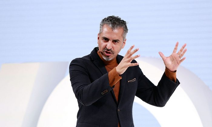 Maajid Nawaz speaks on stage as The Business of Fashion presents VOICES on Dec. 2, 2016 in Oxfordshire, England.  (John Phillips/Getty Images for The Business of Fashion)