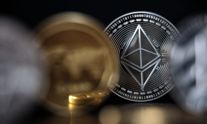 A physical representation of the Ethereum crypto product. Its payment token Ether is not a security according to SEC regulations (Jack Taylor/Getty Images)