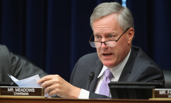 Rep. Mark Meadows (R-N.C.) on Capitol Hill in Washington on July 29, 2015. (Chip Somodevilla/Getty Images)