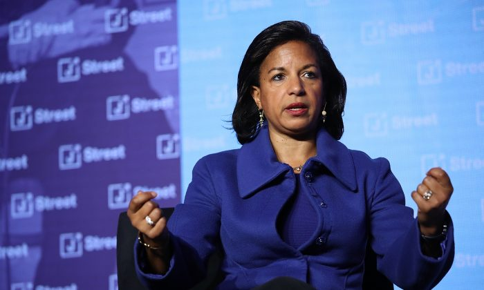 Former National Security Adviser Susan Rice at the J Street 2018 National Conference in Washington on April 16, 2018. (Win McNamee/Getty Images)