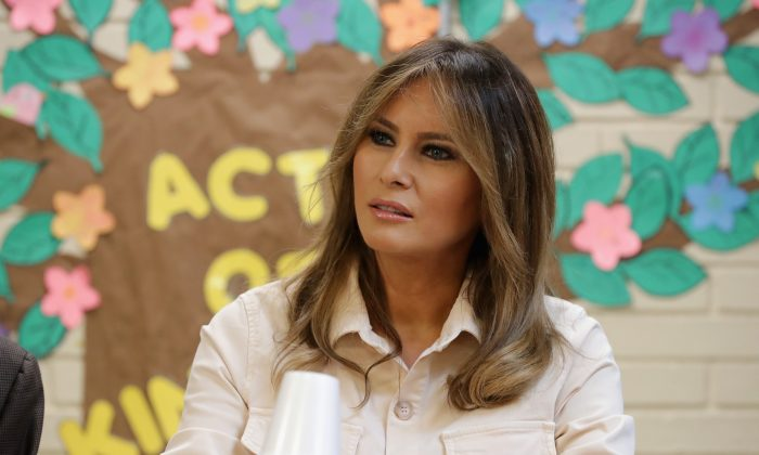 First Lady Melania Trump visits the Upbring New Hope Children's Center in McAllen, Texas, on June 21, 2018. (Chip Somodevilla/Getty Images)