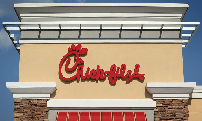 The sign of a Chick-fil-A is seen in Springfield, Va., on July 26, 2012. (Alex Wong/Getty Images)