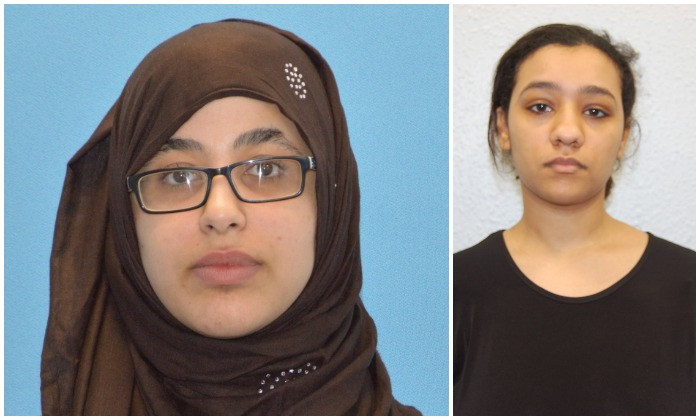 Khawla Barghouth (L) pictured after her arrest in London in April 2017. She was later convicted of terrorism offenses for failing to disclose a terorrist plot revealed to her by her friend Rizlaine Boular (R). (Metropolitan Police)