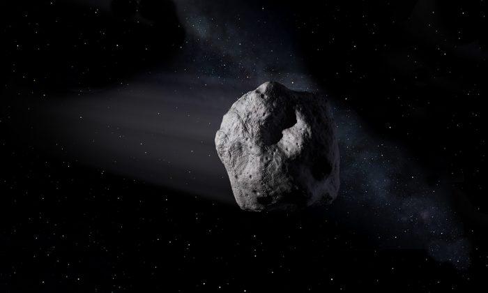 An artist's rendition of an asteroid. (NASA)