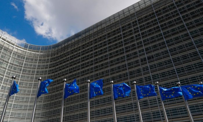 European Union flags flutter outside the EU Commission headquarters in Brussels, Belgium June 20, 2018. Picture taken June 20, 2018. (Reuters/Yves Herman)
