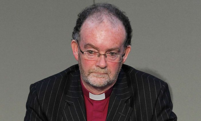 Chair of the Gosport Independent Panel Bishop James Jones KBE pictured on Sept. 12, 2012 in Liverpool, United Kingdom. (Peter Byrne - WPA Pool/Getty Images)
