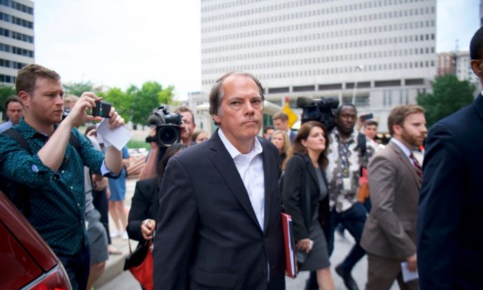 James A. Wolfe, a former Senate Intelligence Committee aide, exits the Edward A. Garmatz United States Courthouse on June 8, 2018 in Baltimore, Maryland. (Mark Makela/Getty Images)