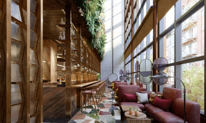 The Conservatory at the Moxy. (Rockwell Group)