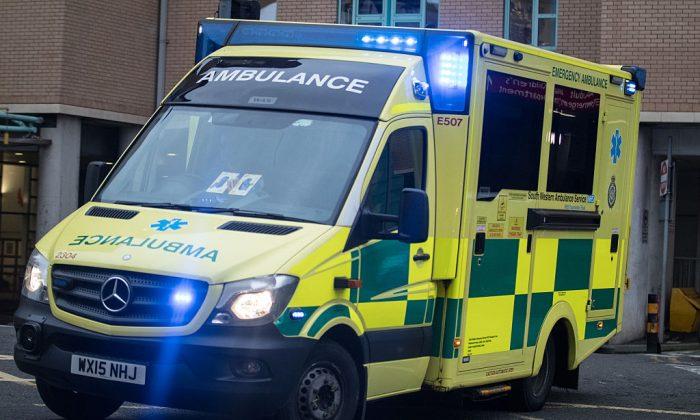 An ambulance leaves Bristol Royal Infirmary on Jan. 10, 2017 in Bristol, United Kingdom. (Matt Cardy/Getty Images)