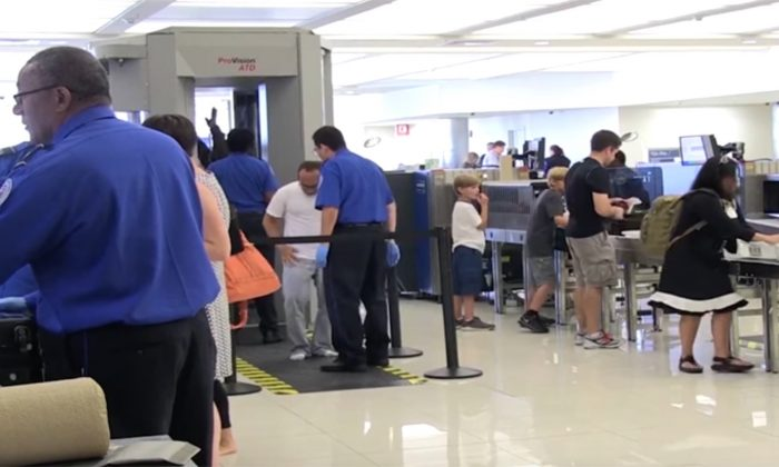 Customs agents at a U.S. airport. (Screenshot via Transportation Security Administration/youtube)