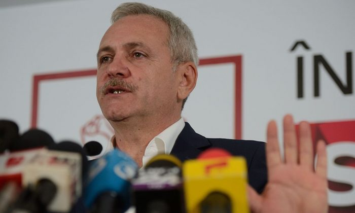 Liviu Dragnea, the leader of The Social Democratic Party (PSD), at the party's headquarters in Bucharest December 11, 2016.  (Daniel Mihailescu/AFP/Getty Images)