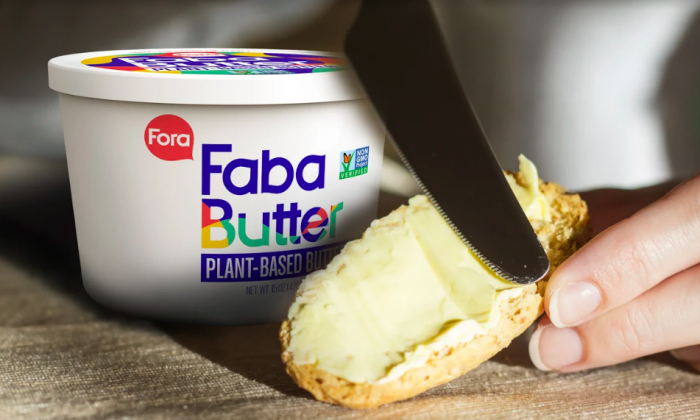 FabaButter is plant-based, and made with aquafaba, the water used to cook chickpeas. (Courtesy of Fora)