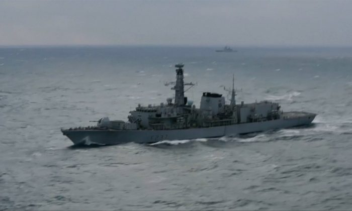 British Royal Navy Frigate, HMS Westminster, off the south coast of the UK. (MOD/2018 via Reuters)