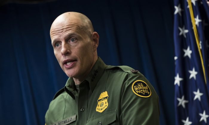 Newly-appointed Acting ICE Director Ron Vitiello speaks at a Homeland Security press conference as the acting deputy commissioner of Customs and Border Protection, in Washington on Dec. 5, 2017. (Drew Angerer/Getty Images)