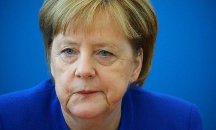 German Chancellor Angela Merkel attends a Christian Democratic Union (CDU) leadership meeting in Berlin, Germany, July 2, 2018. (Reuters/Hannibal Hanschke)