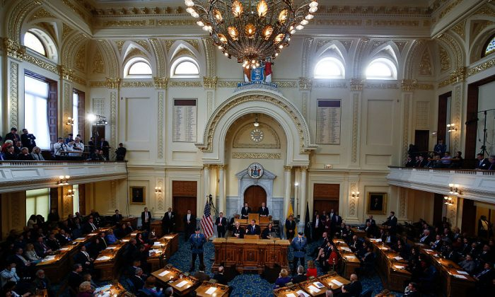 The New Jersey Legislature on February 24, 2015 at the Statehouse in Trenton, New Jersey. (Jeff Zelevansky/Getty Images)