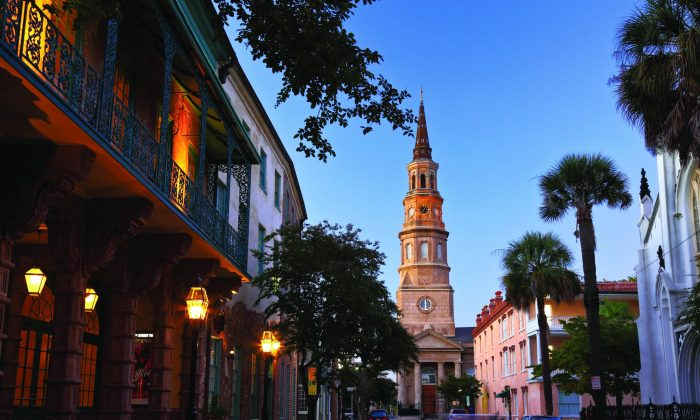 The Dock Street Theatre in the historic French Quarter district of downtown Charleston, South Carolina. (Courtesy of Explore Charleston)