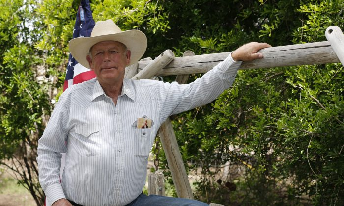 Rancher Cliven Bundy poses for a photo outside his ranch house west of Mesquite, Nev., on April 11, 2014. (George Frey/Getty Images)