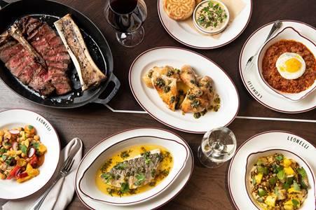 Dishes at Leonelli Taberna. (Evan Sung)